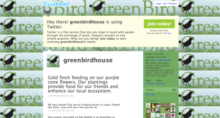 Follow Green Bird House on Twitter.