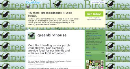 Follow Green Bird House on Twitter.