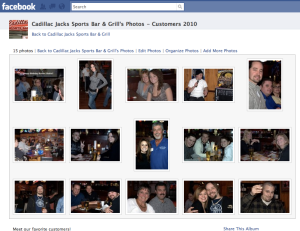 Cadillac Jacks Sports Bar and Grill Facebook fan page photo page