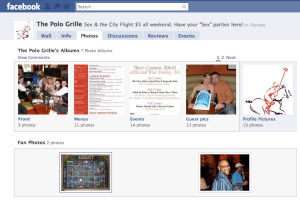 Polo Grille Facebook fan page photo page example